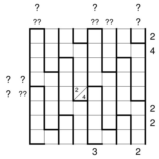 5 on a dogleg left maybe crossword