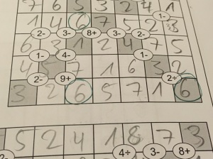 A single wrong digit in a Mathrax.